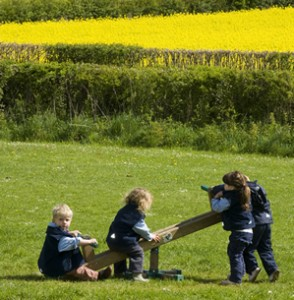 Outdoor learning at Farley Nursery School