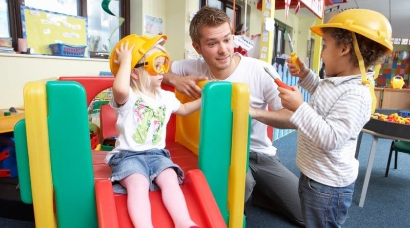 Parents welcome men into childcare: 98% now happy to let them work in nurseries