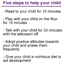 5 steps to help your child