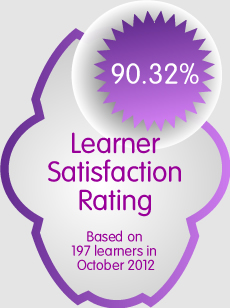 The current percentage of learners who rate their course as good or very good.