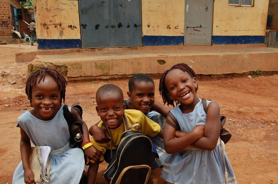 Pre-school children in Uganda