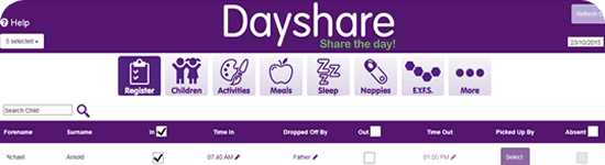 Dayshare abacus page