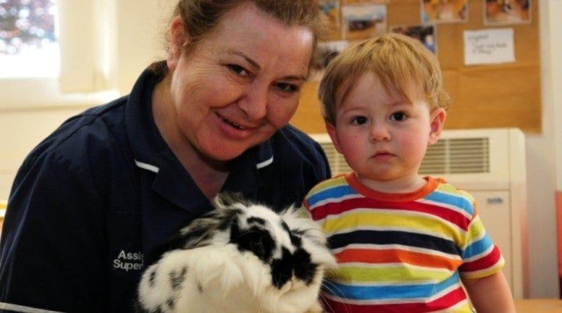 Nursery donated a new pet bunny
