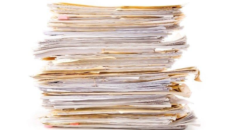 Cut down on paperwork