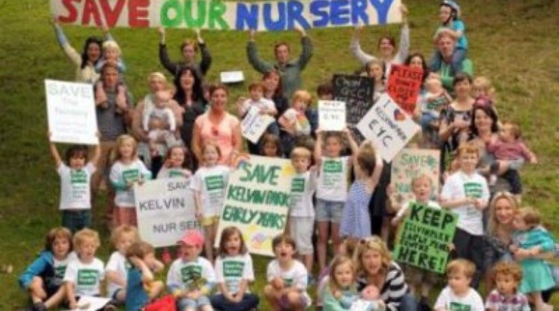 Angry Parents Protest Nursery Closure!