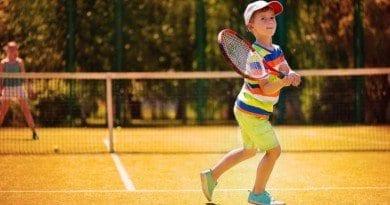 Tomas playing tennis