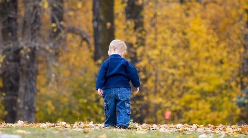 2 year old walks away from nursery