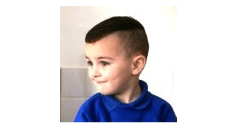 3 year old banned from school photo because of his haircut