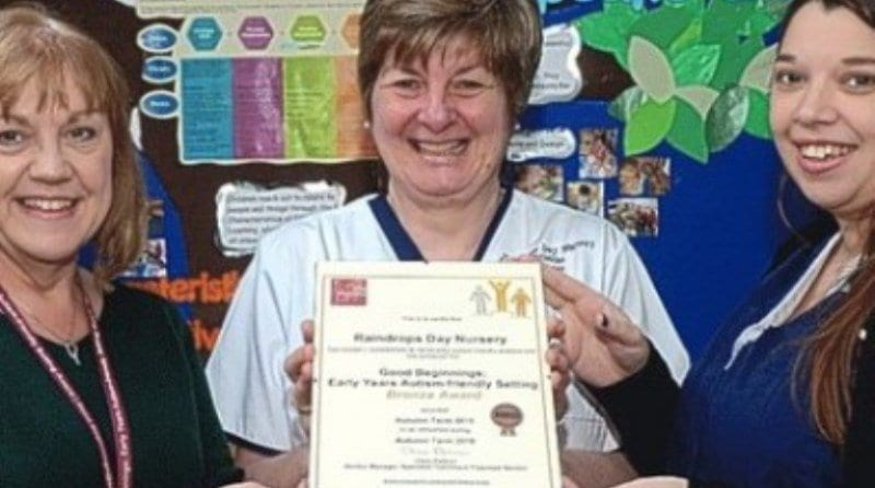 Nursery praised for autism work