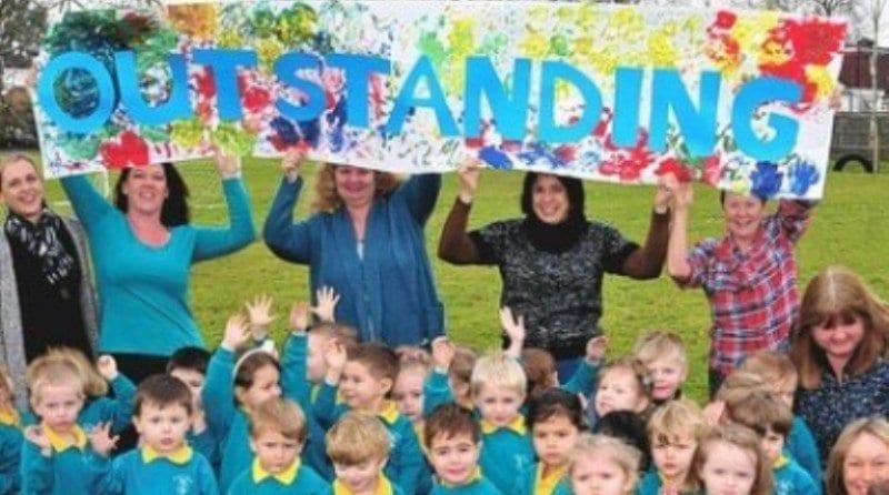 Pre-school celebrates 'OUTSTANDING' result