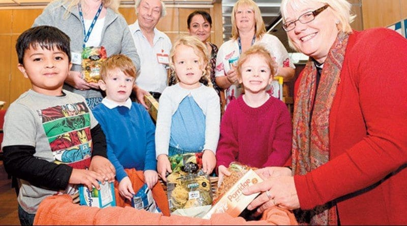 Cippenham Nursery donate haul of goods to Slough Foodbank