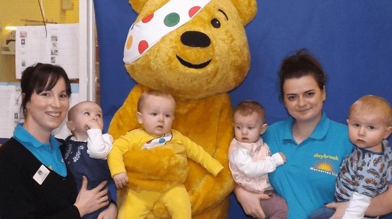 Daybreak Nurseries Ltd raise money for Children in Need
