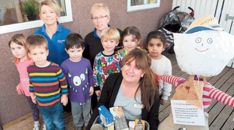Children's nursery collects food for Maidenhead Foodshare initiative