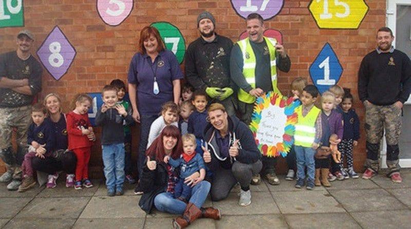 Builders volunteer to help nursery free of charge