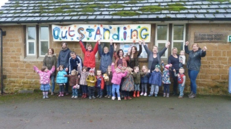 Pre-school celebrates after being graded 'outstanding'