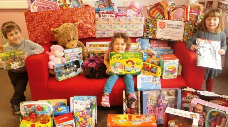 Kinder Haven Nurseries support The Salvation Army Christmas Toy Appeal