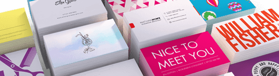 Websites branding page BUSINESS CARDS