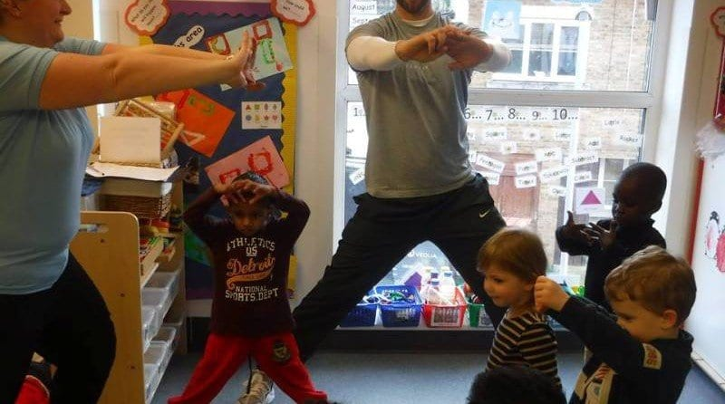 Local Fitness Instructor Runs a Special Exercise Class for the Children at Boys & Girls Nursery