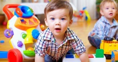 bigstock-Curious-Baby-Boy-Studying-Nurs-42451435