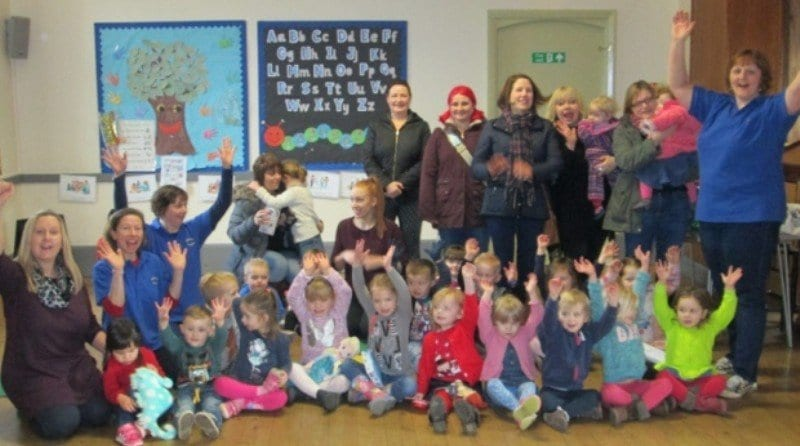 Staff at pre-school celebrate Ofsted rating