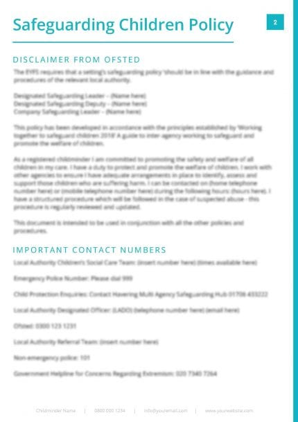 Safeguarding Children Policy