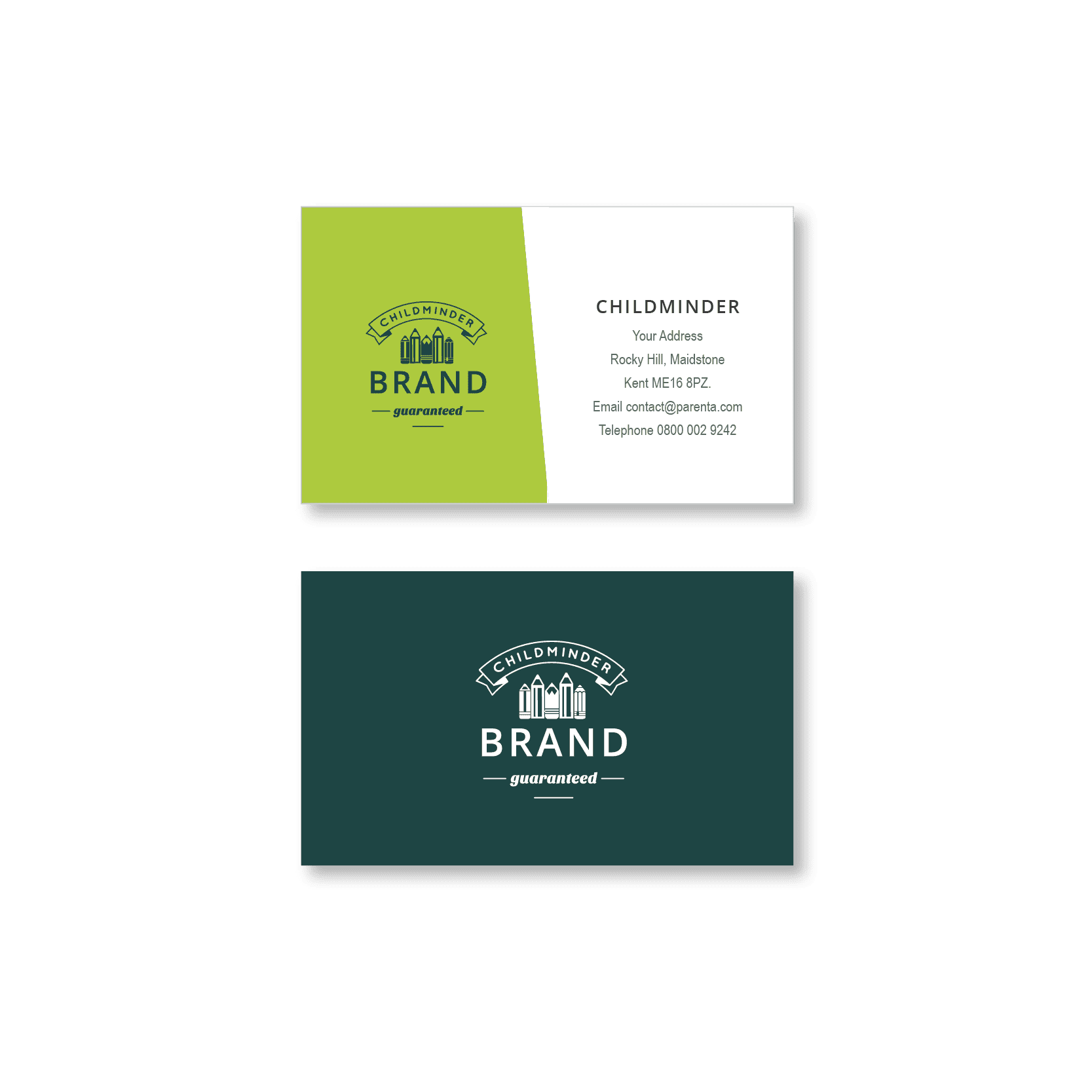 Childminder Business Card Design