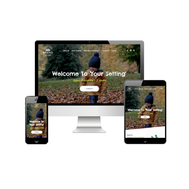 One-Page Responsive Website for Childminders