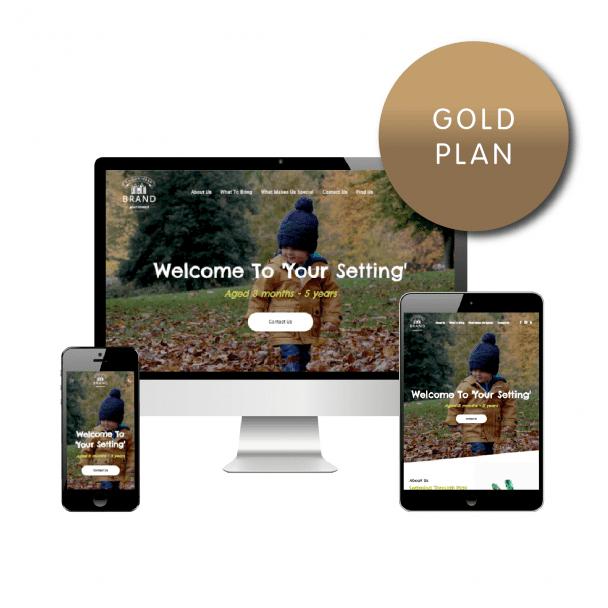Gold Website Plan - Childminder