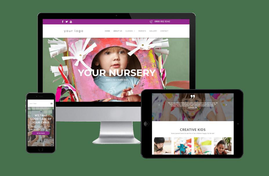 Childminder - Responsive Template Website
