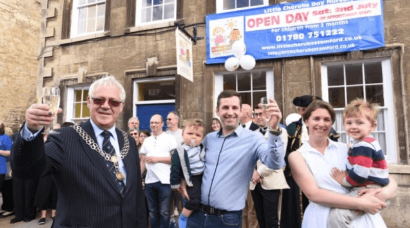 Mayor of Stamford officially opens Little Cherubs Day Nursery