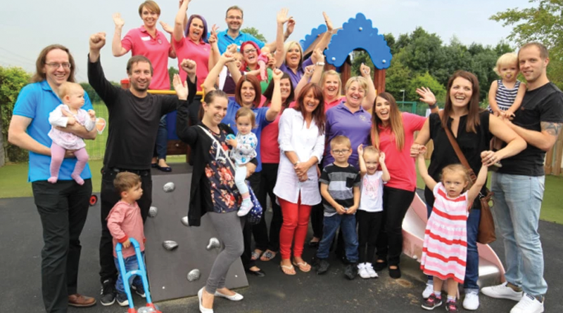 Nursery torched in fire welcomes back families