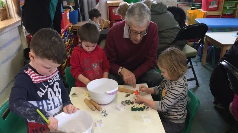 Forest Row Community Pre-School reaches out to local elderly