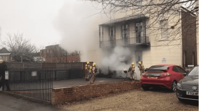 Fire breaks out at Cheltenham nursery