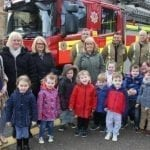 Nursery supports fundraising for injured fireman