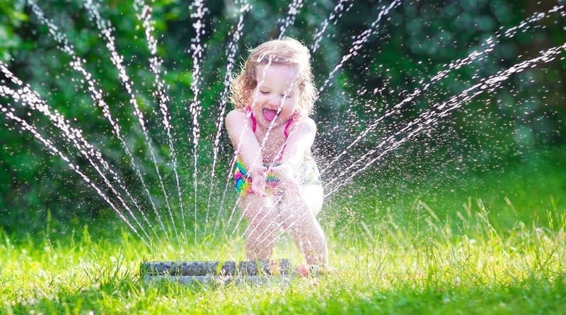 Splish, Splash, Splosh!  The benefits of water play with young children