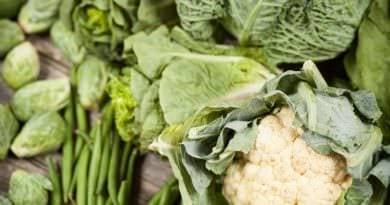 Cauliflower, sprouts and greens