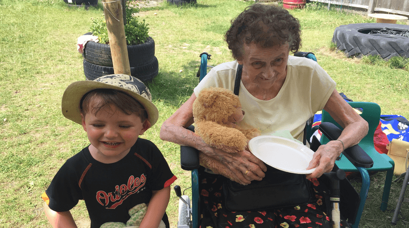 Forest Row Community Pre-School hosts intergenerational picnic for local elderly
