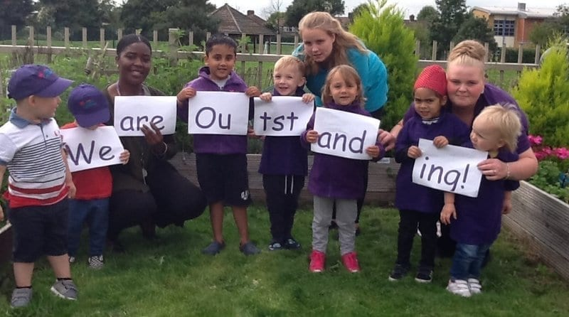Hungry Caterpillar Perivale graded 'outstanding' by Ofsted