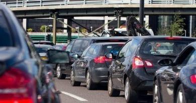 cars in traffic jam