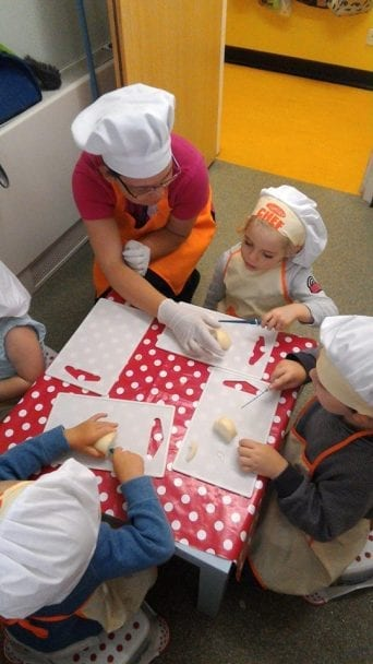 Children cooking at Tops Salisbury
