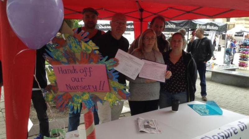 Campaigners protest against the closure of Harvey Nursery