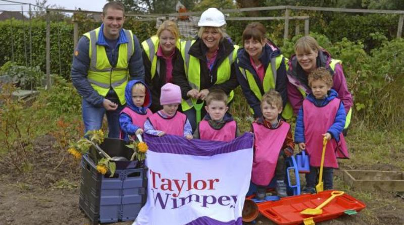Taylor Wimpey sponsors pre-school allotment project