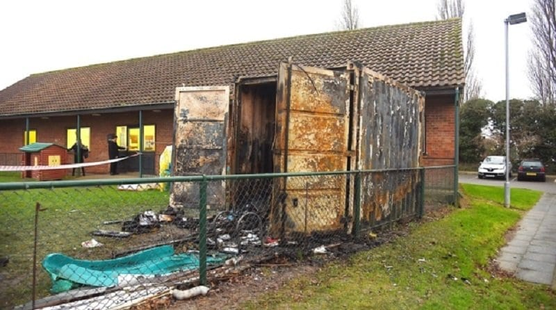 Arson attack destroys nursery toys