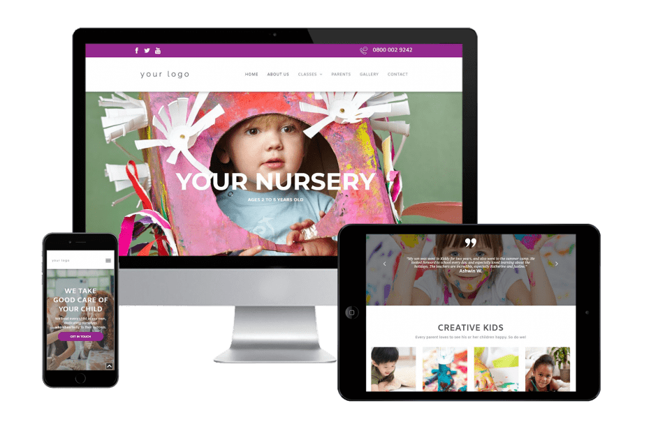 Responsive Website Template and Logo