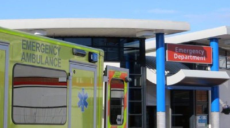 Ambulance outside emergency department
