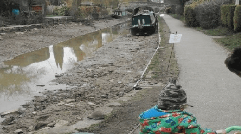 Nursery children visit canal to learn about embankment collapse