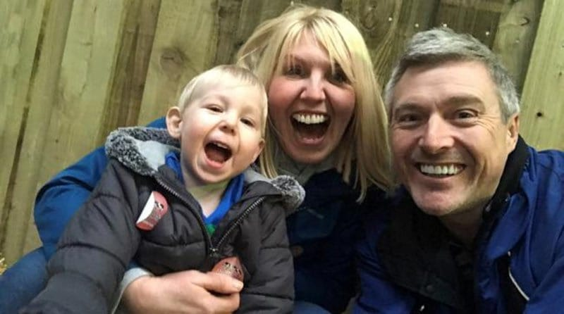 Nursery gets helping hand from stairlift company for tot with celebral palsy