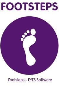 vector image of foot on purple background