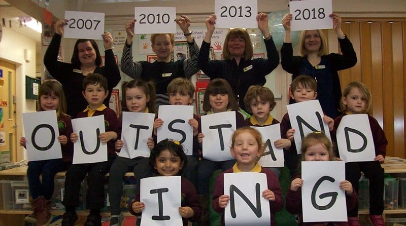 Nursery celebrates after receiving 'outstanding' from Ofsted four times in a row
