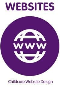 vector image of www on purple background
